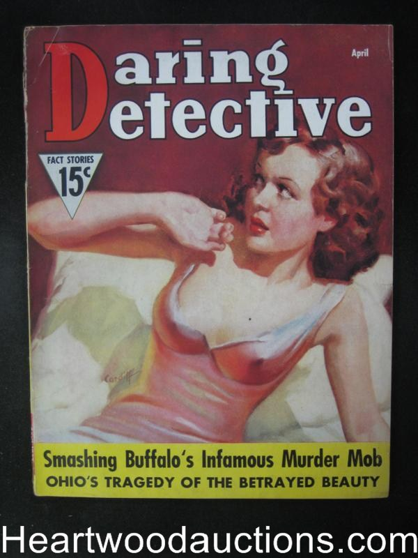 Daring Detective Apr 1937  Awesome GGA Cleavage Cvr