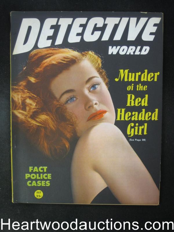 Detective World July 1946  GGA Cvr Murder of a redheaded Girl- High Grade