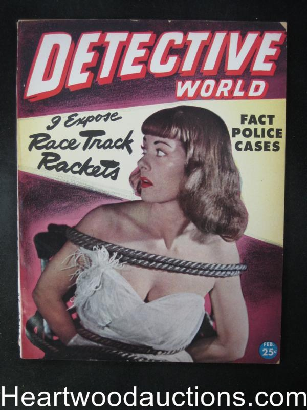 Detective World Feb 1946  Bondage Cover- High Grade