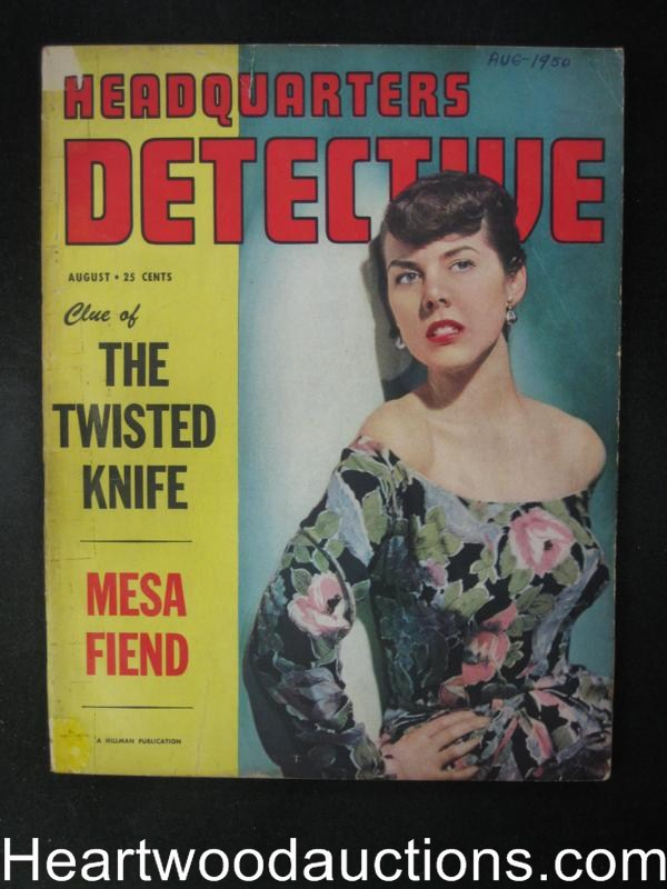 Headquarters Detective Aug 1950  Hollywood Bloodbath