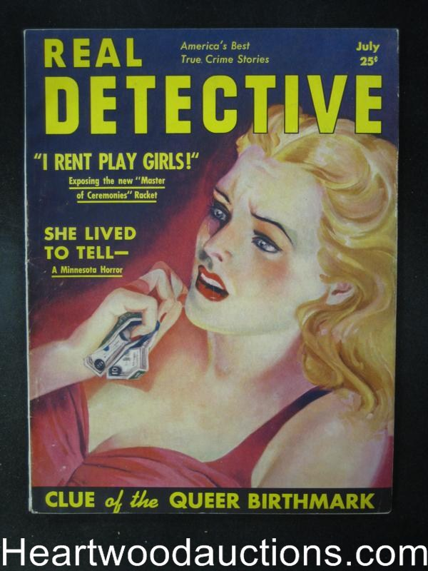 Real Detective July 1939  Narcotics, Calamity Jane- High Grade