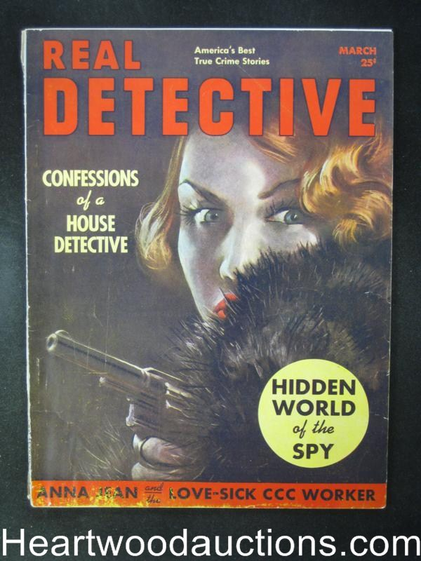 Real Detective Mar 1939  GGA Cvr, Confessions of a House Detective, Spy story