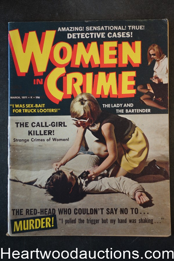 Women in Crime Mar 1971 Bad Girl Cover - High Grade