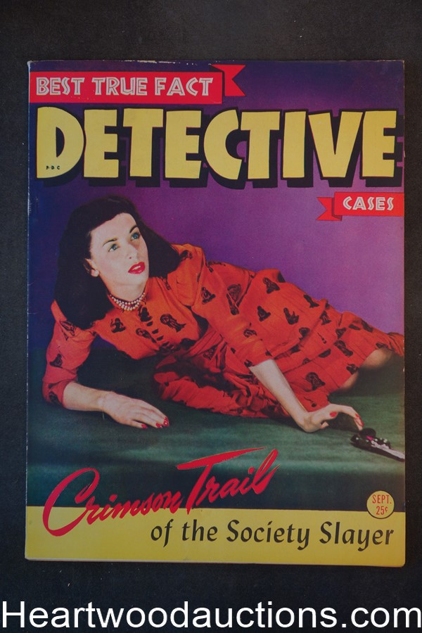Best True Fact Detective Sep 1944 GGA Cover - High Grade