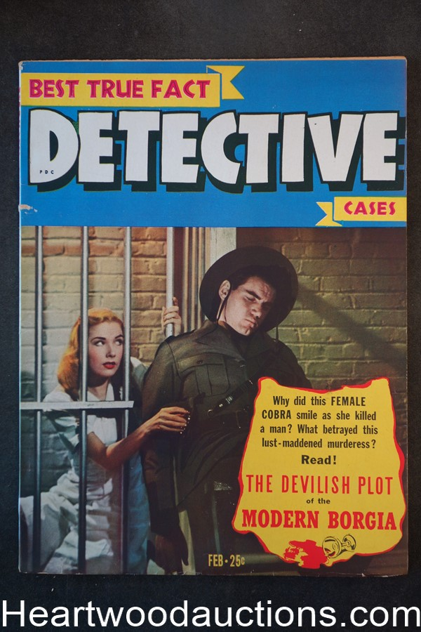 Best True Fact Detective Feb 1945 The Devilish Plot of the Modern Borgia - High Grade