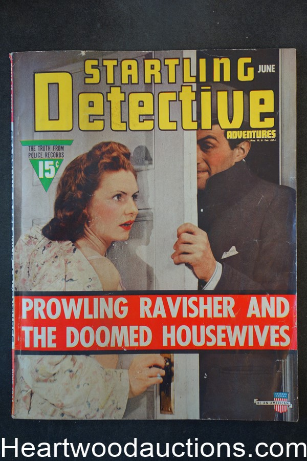 Startling Detective Jun 1941 Home Invasion Cover