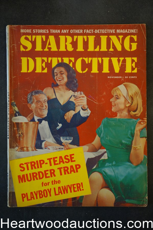Startling Detective Nov 1964 Gang Girls' Murder Trail