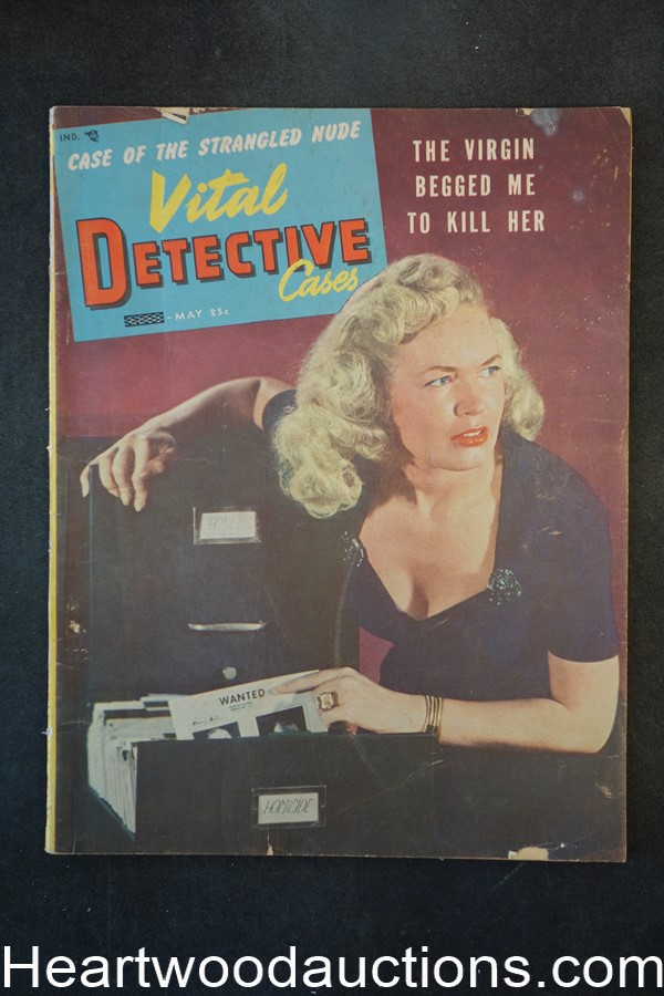 Vital Detective May 1954 Death Deals The Cards