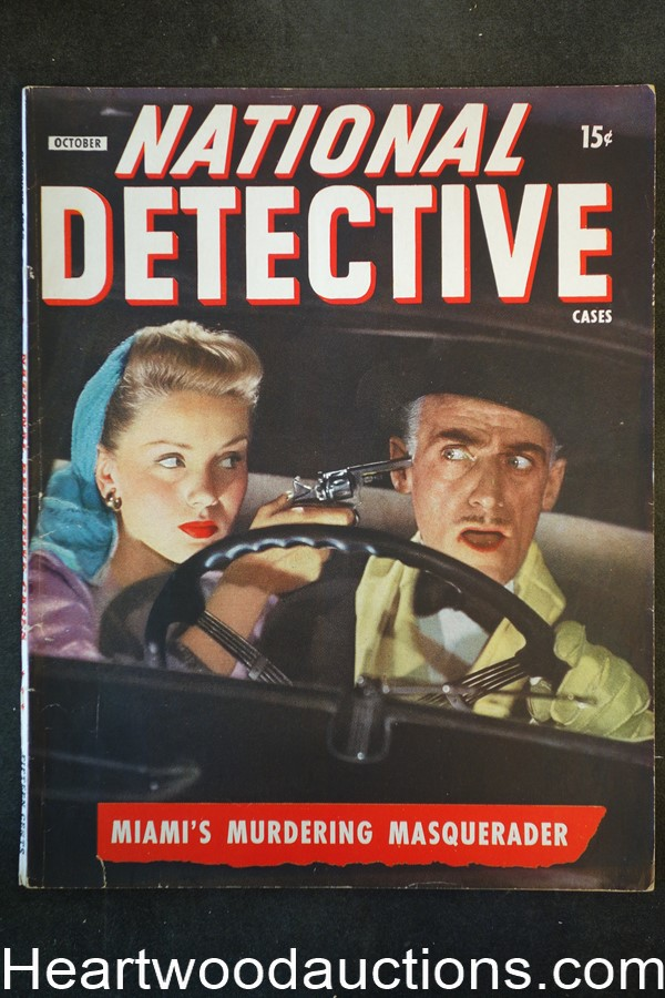 National Detective Cases Oct 1945 Bad Girl Cover
