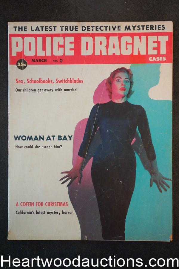 Police Dragnet Mar 1957 A Coffin For Christmas