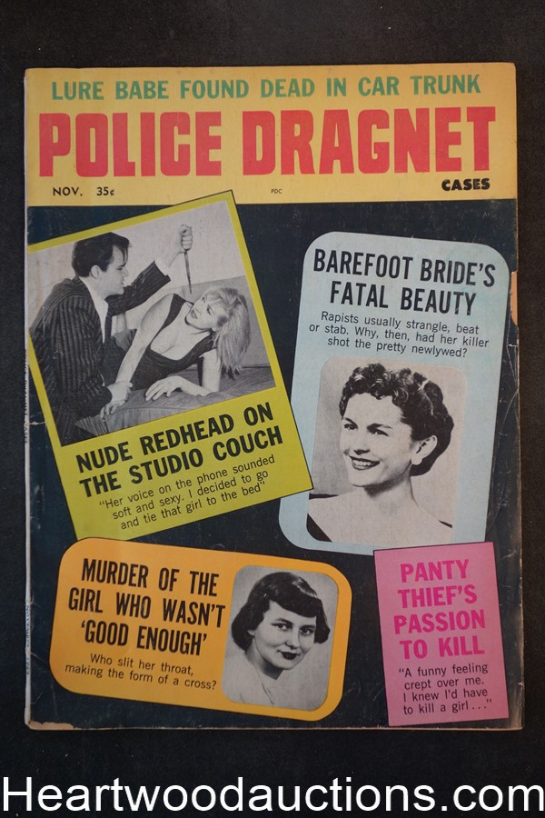 Police Dragnet Nov 1963 Assault Cover