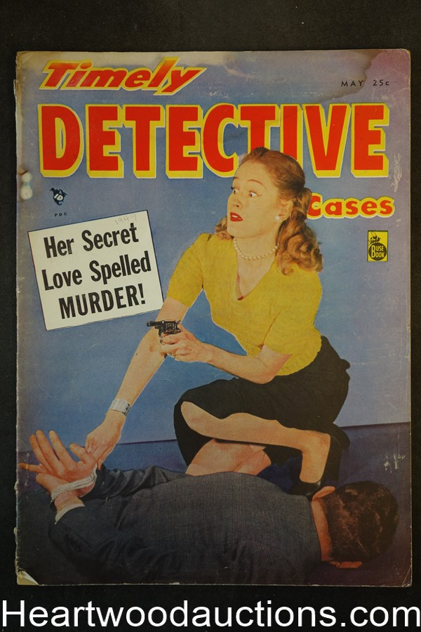 Timely Detective May 1949 Assault Cover