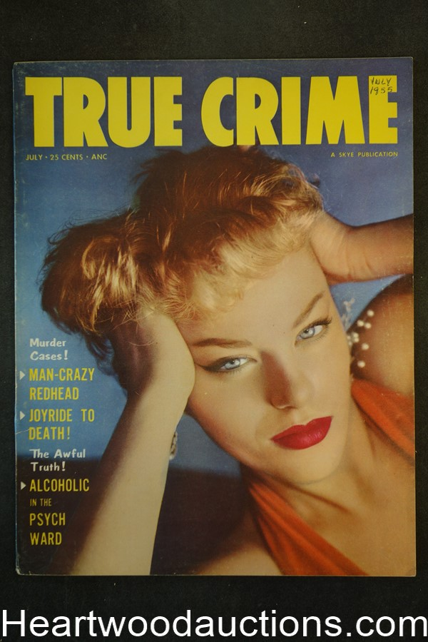 True Crime Jul 1955 GGA Cover - High Grade