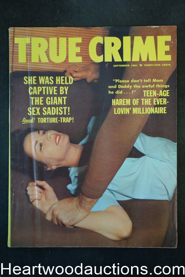 True Crime Sep 1961 Assault Cover