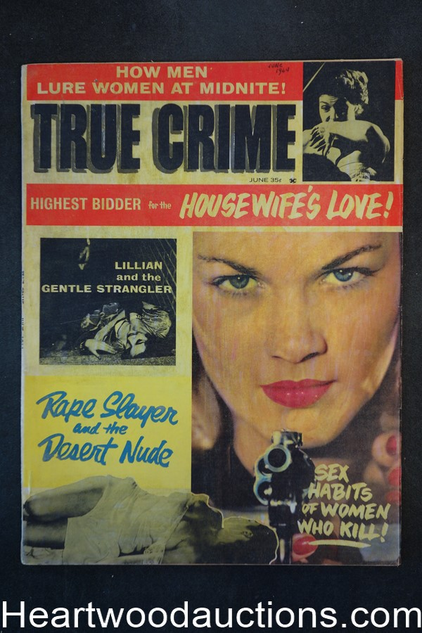 True Crime Jun 1964 Blonde Nude Up The Creek