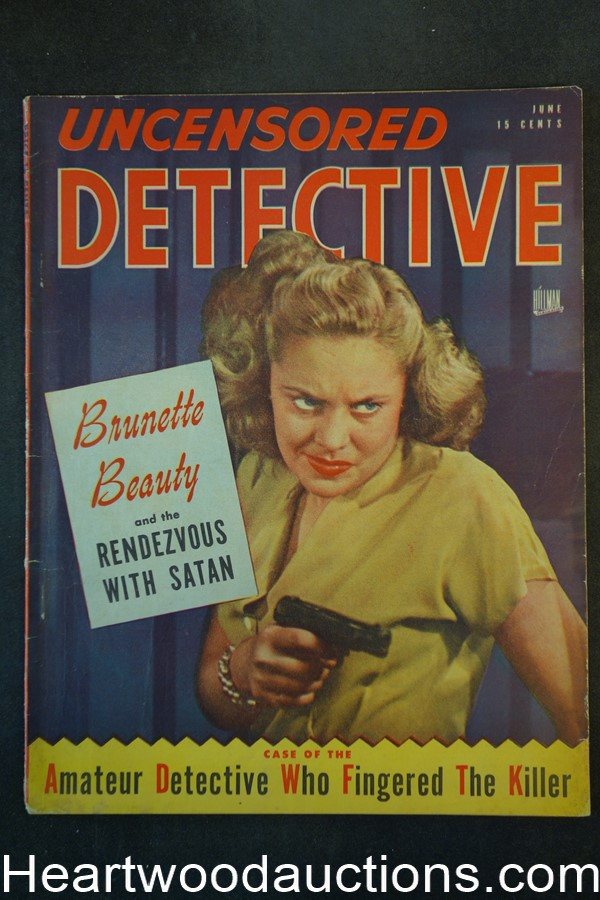 Uncensored Detective Jun 1947 Bad Girl Cover