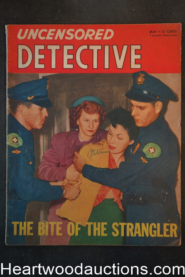 Uncensored Detective May 1950 The Bite of the Strangler