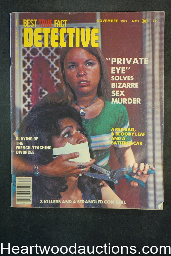 Best True Fact Detective Nov 1977 Assault Cover