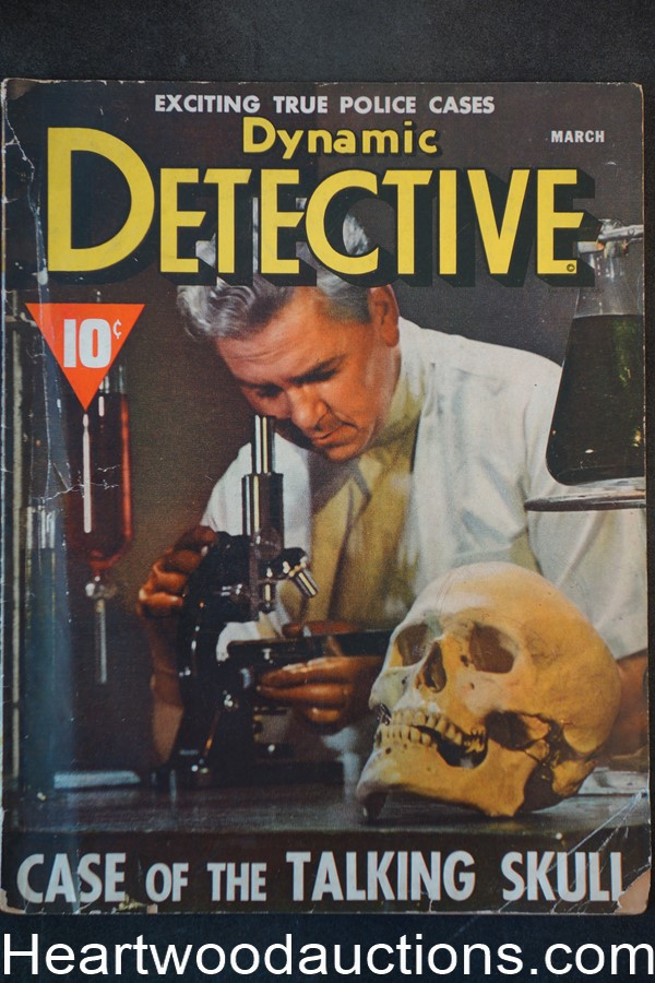 Dynamic Detective Mar 1943 Skull cover