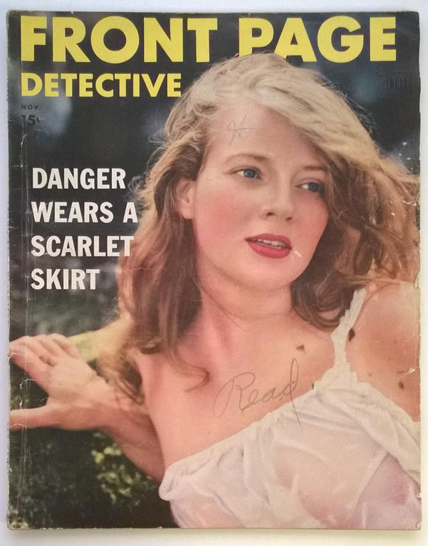 Front Page Detective Nov 1952 Good Girl Cover