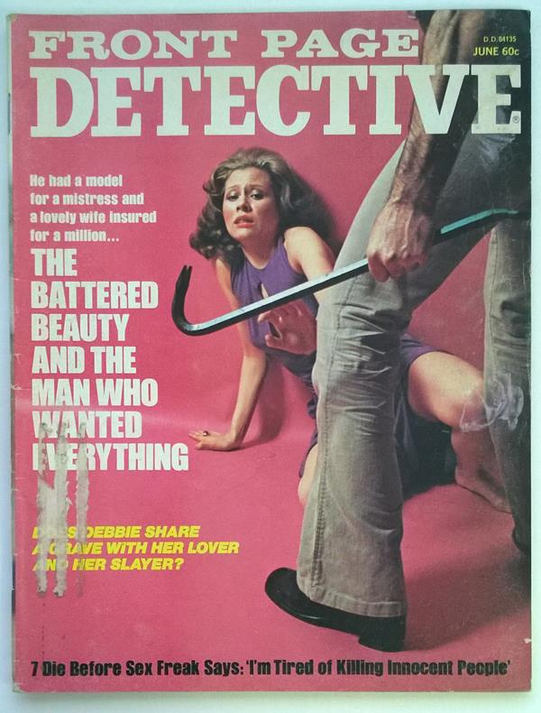 Front Page Detective Jun 1975 Assault Cover