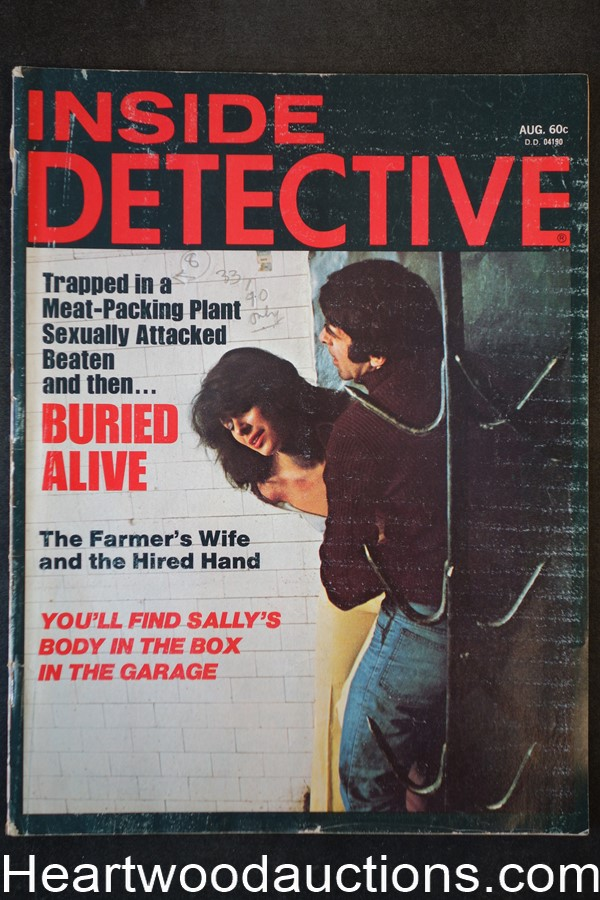 Inside Detective Aug 1975 Bondage Cover