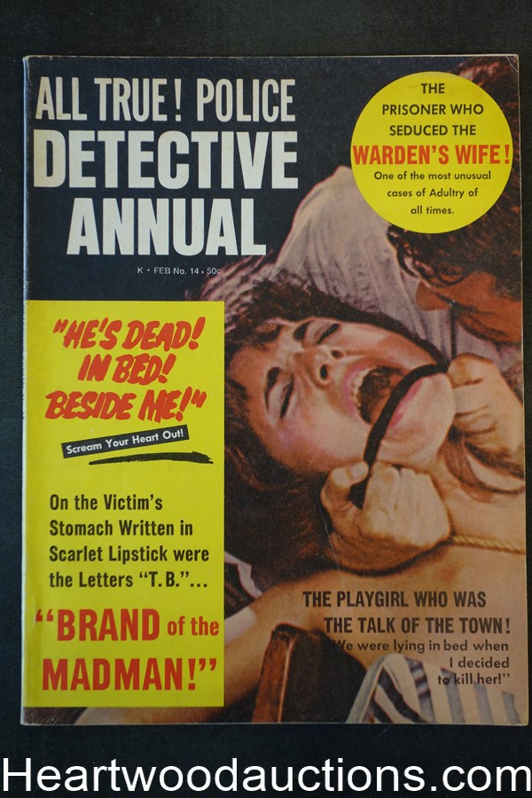 Police Detective Annual Feb 1968 Assault Cover