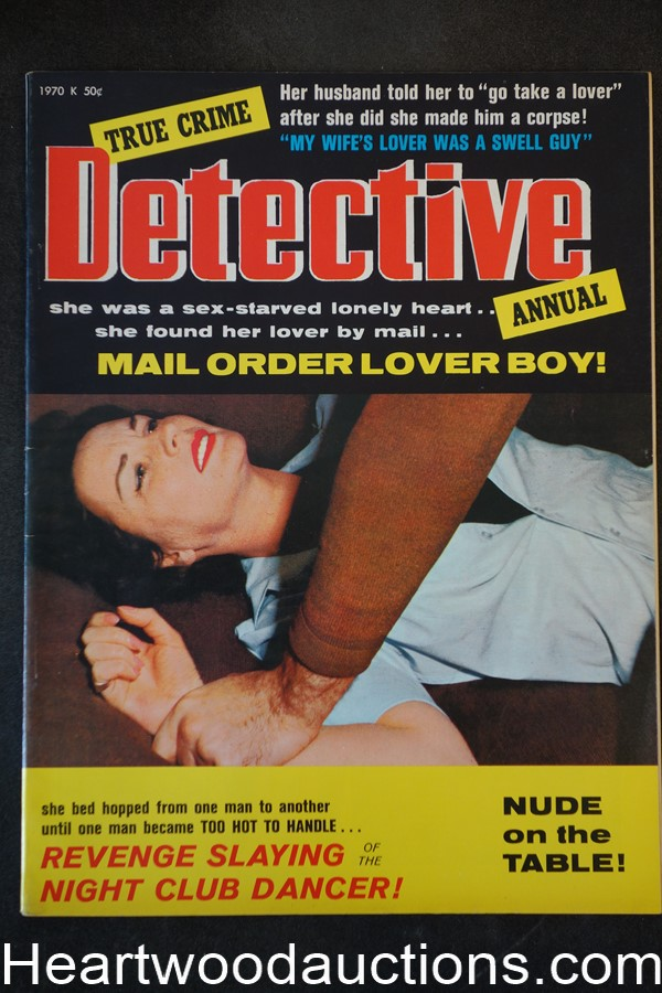 True Crime Detective Annual 1970 Assault Cover, Norm Lawrence's 12 Year Binge - High Grade