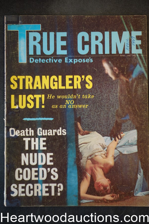 True Crime Detective Expose Apr 1967 Assault Cover, New York's Bloody War Against Cops, The Scandals that Shocked Paris