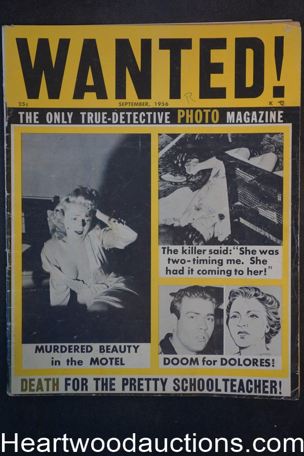 Wanted Sep 1956 Murder cover