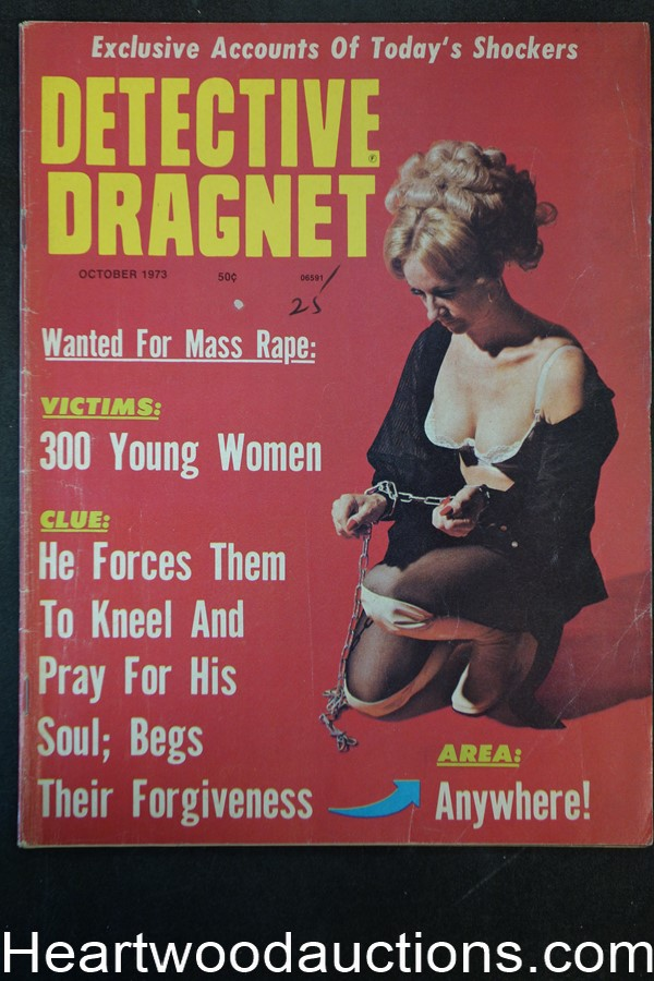 Detective Dragnet Oct 1973 Bondage Cover
