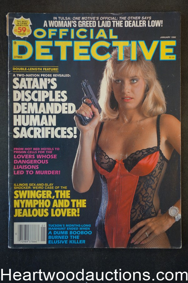 Official Detective Jan 1990 Bad Girl Cover