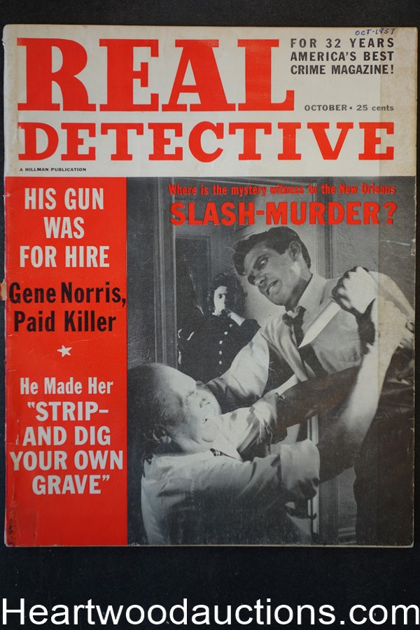 Real Detective Oct 1957 Assault Cover