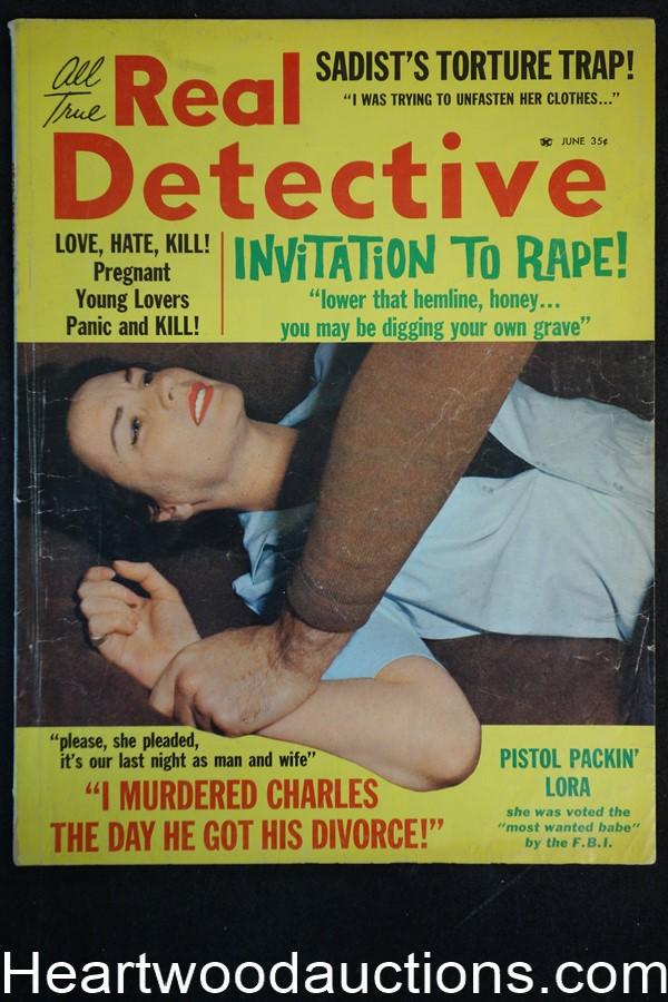 Real Detective Jun 1963 Assault Cover