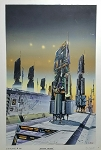"Edward Blair Wilkins Original Art - Freighter Terminal 14"" x 9"""
