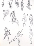 Original Art by Roy G. Krenkel - Movement Studies, Tarzan Figures, Nudes - A Gorgeous Assortment