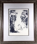 Original Signed Limited Etching by Anne Bachelier, L'alla de sphere by fine artist and Illustrator