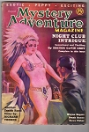 Mystery Adventure August 1936  Classic Saunders GGA Cover Zenith Rand - High Grade