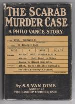 The Scarab Murder Case by S. S. Van Dine (First Edition)