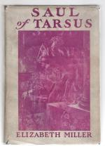 Saul of Tarsus by Elizabeth Miller (First U.S. Edition)