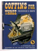 Coffins for Three by Frederick C. Davis First edition Fax DJ