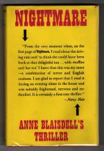 Nightmare by Anne Blaisdell (First UK Edition) Gollancz File Copy