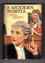 A Modern Portia by Paul Trent (First Edition) Rare DJ Publisher's File Copy