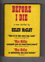Before I Die by Helen McCloy (First UK Edition) Gollancz File Copy