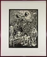 Stephen Fabian ORIGINAL ART Ink & Pencil Nightmares in Blood Clive Barker