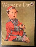 Woman's Day Jan 1944 Constance Bannister Cover