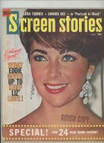 Screen Stories Aug 1960 Elizabeth Taylor Cover