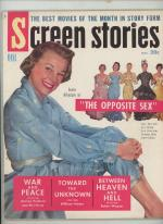 Screen Stories Oct 1956 June Allyson Cover