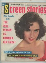 Screen Stories Sep 1959 Elizabeth Taylor Cover