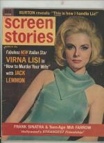 Screen Stories Mar 1965 Virna Lisi Cover